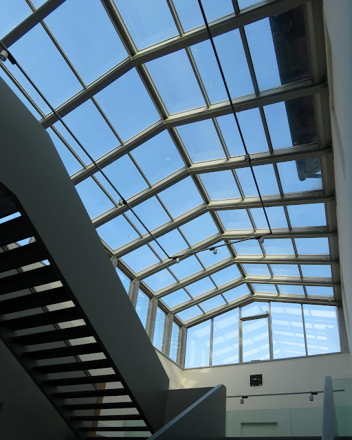 The glass roof of a hall of the future Civic Museum, in Via dei Bottini dell'Olio, Livorno