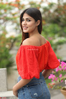 Rhea Chakraborty in Red Crop Top and Denim Shorts Spicy Pics ~  Exclusive 195.JPG