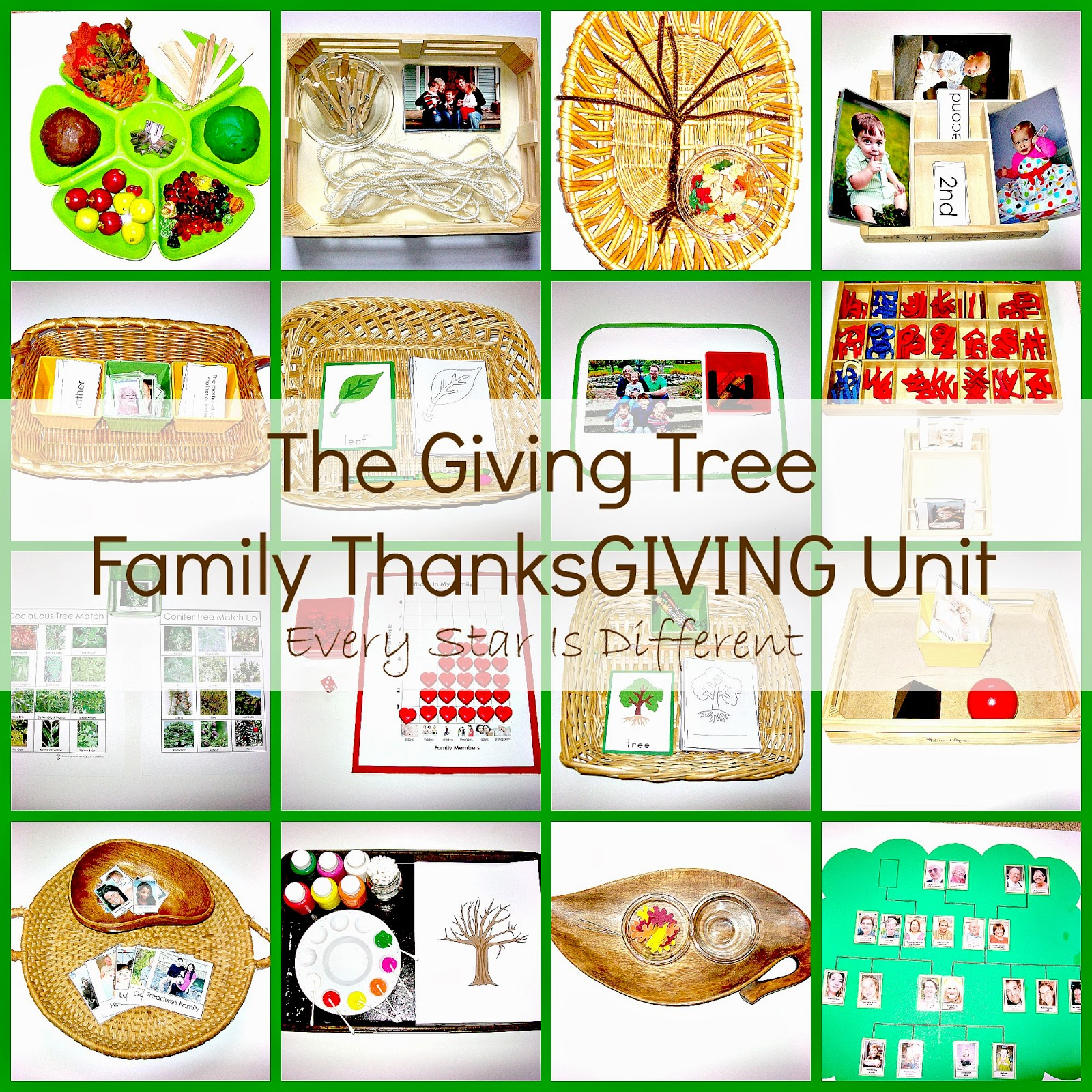 The Giving Tree Family Thanksgiving Unit