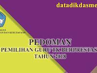 PEDOMAN LOMBA PEMILIHAN GURU TAMAN KANAK KANAK ( TK / PAUD ) BERPRESTASI TINGKAT NASIONAL 2018