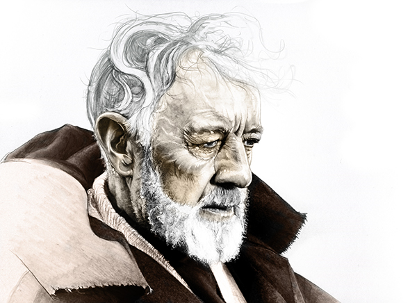 18-Alec-Guinness-Ben-Obi-Wan-Kenobi-Corbyn-S-Kern-Game-of-Thrones-Star-Trek-and-Star-Wars-Character-Drawings-www-designstack-co