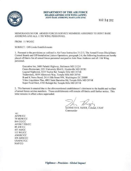 Air Force Letter Of Recommendation - Templates