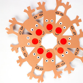 how to cut reindeer snowflakes- fun winter paper craft for kids