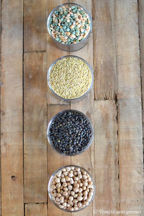 Trempage des légumineuses et céréales