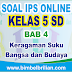 Soal IPS Online Kelas 5 SD Bab 4 Keragaman Suku Bangsa dan Budaya Indonesia - Langsung Ada Nilainya