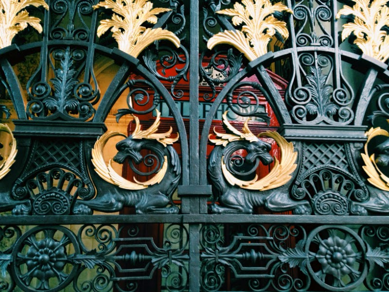 Gates to the Royal Academy London