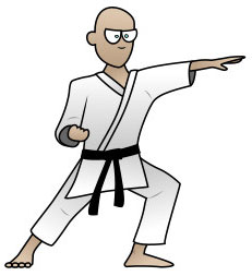 Langkah 9. Super Simpel Menggambar Karateka