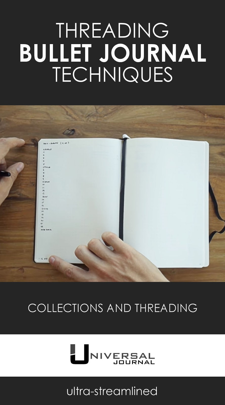 bullet journal technique collections and threading