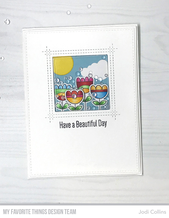 Handmade card by Jodi Collins featuring products from My Favorite Things #mftstamps