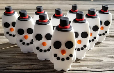 Casey the Coffin Snowman Edition Resin Figure by Random Skull Productions
