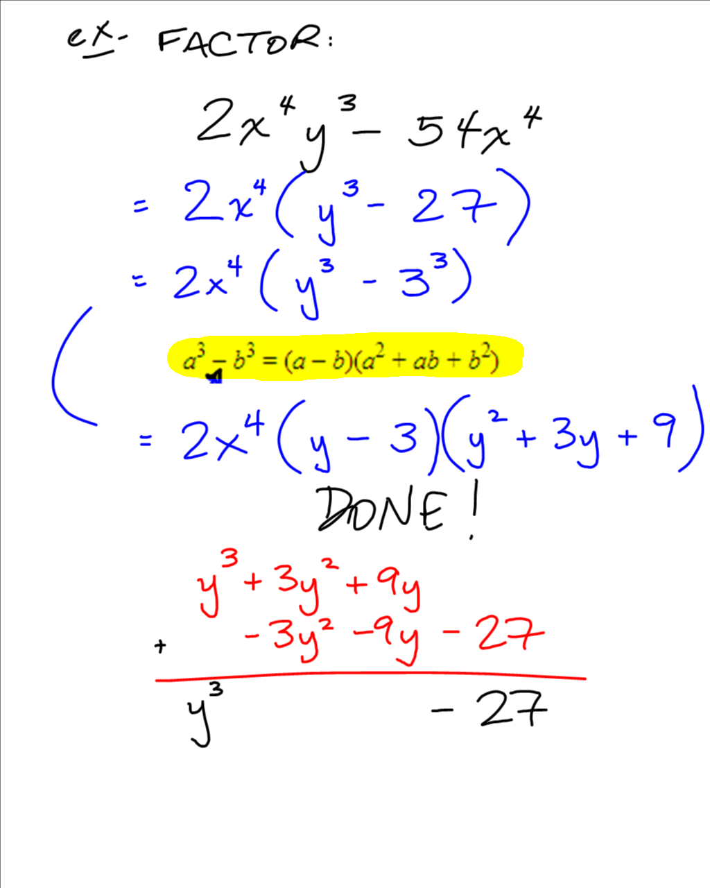Grade 10 Applied Precalculus Cheetah Sum Or Difference Of Cubes