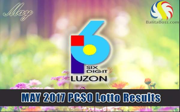Results: May 2017 6-Digit PCSO Lotto