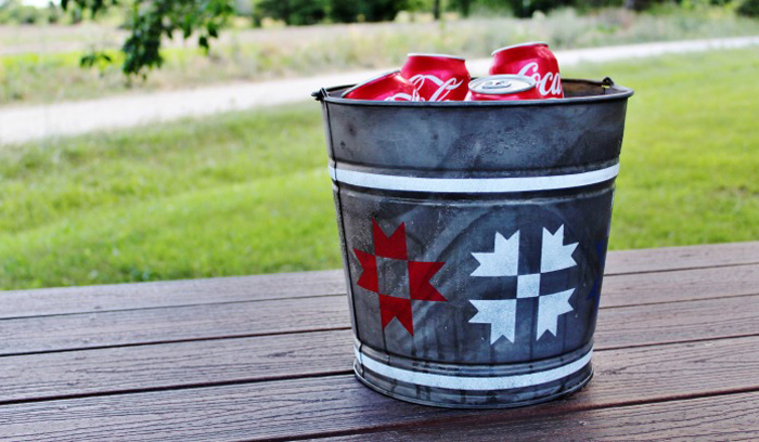Red, White, and Blue Bucket