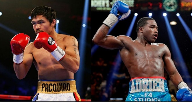 Manny Pacquiao and Adrien Broner trade verbal jabs during LA media event