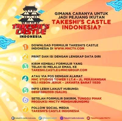cara daftar ikut takeshi castle indonesia