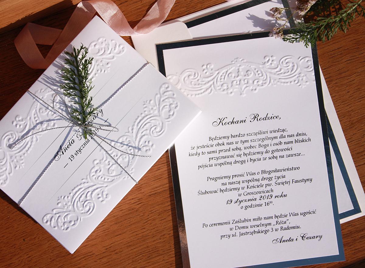 Niezapominajki Zaproszenia ślubne