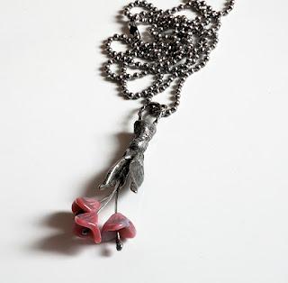 Soft Soldered Flower Pendant Necklace