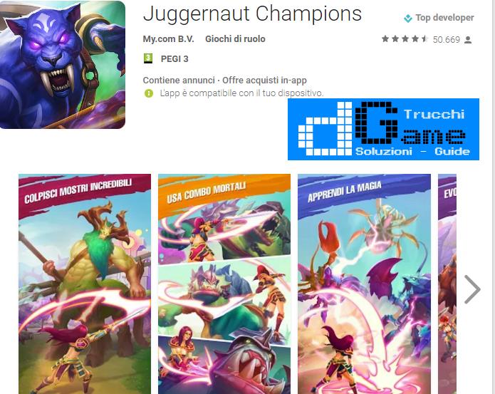 Trucchi Juggernaut Champions Mod Apk Android v1.0