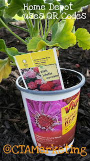 See gardening tips from Home Depot using their QR Code