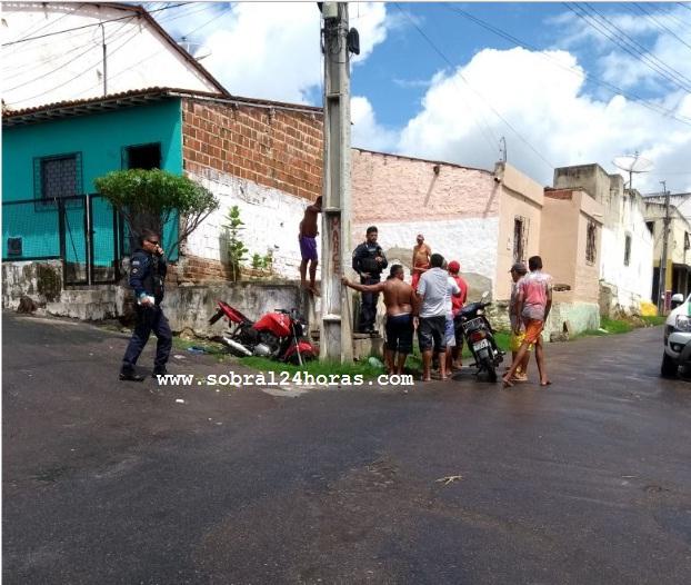 """Sobral: Bandidos """"depenam"""" motocicleta no bairro Terrenos Novos"""