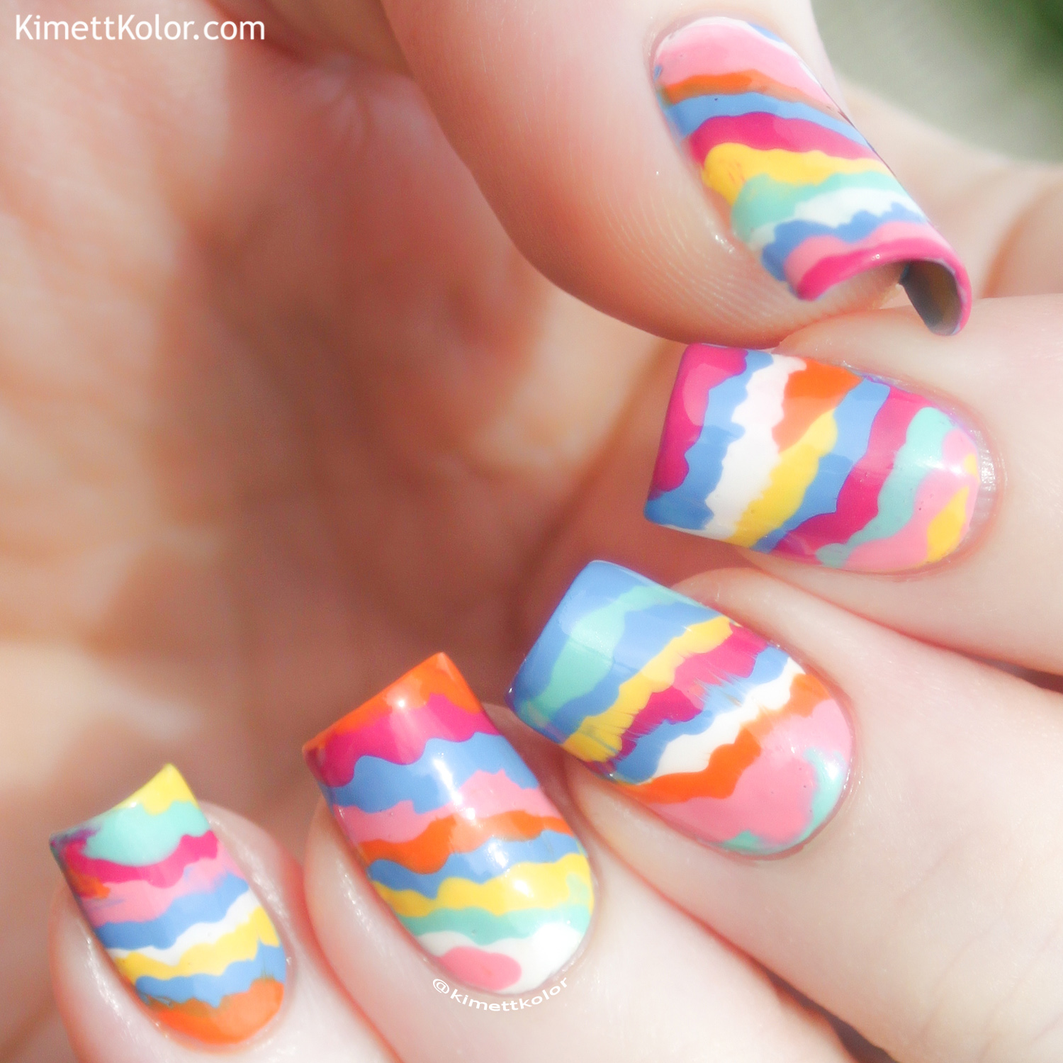 KimettKolor Summer Dribble Nail Art