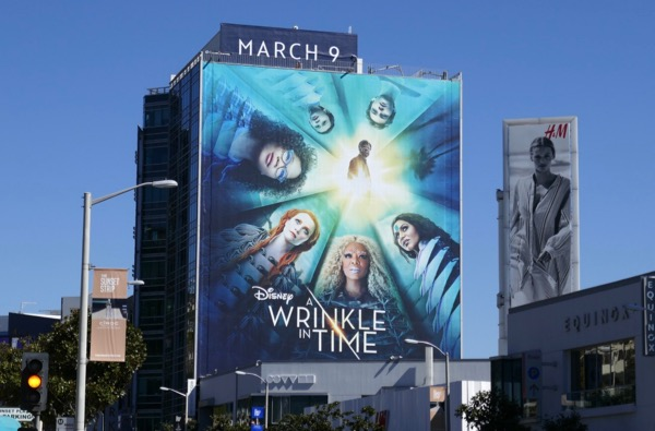 A Wrinkle in Time movie billboard