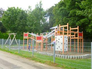 Spielplatz auf dem Alb-Camping Westerheim
