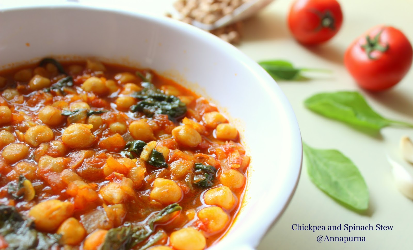 Annapurna: Spanish Chickpea and Spinach Stew With An ...