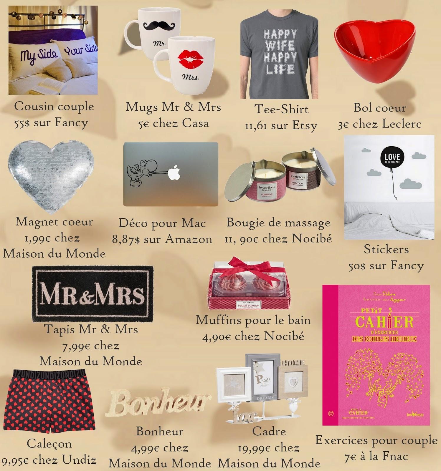 Idee cadeau couple 1 an – Cadeaux de Noël populaires 0acfce7f84c