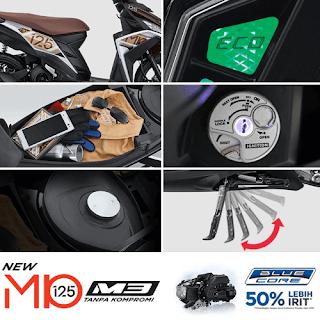 Fitur Spesifikasi Yamaha Mio M3 125 Blue Core Terbaru