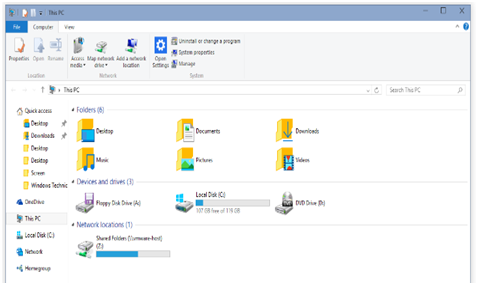 get help in Folder Option Window  with file explorer in windows 8