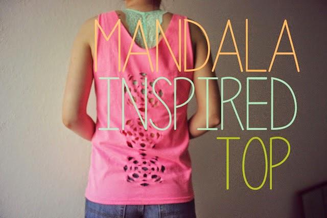 Diy Camiseta con Dibujo Mandala