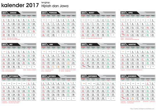 Kalender 2017 Lengkap Jawa Dan Arab Service Laptop