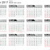 Kalender 2017 lengkap hari Libur Nasional File JPG, Pdf dan Corel Draw Vector