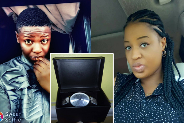 Internet Marketer Nancy Chuks Gushes As Gerrad Chigozie Surprised Her With A Silver Spotted Watch