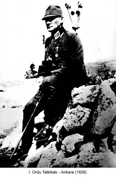 Atatürk Ordu Tatbikatı 1926 Fotoğraf
