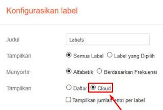 label cloud blogger