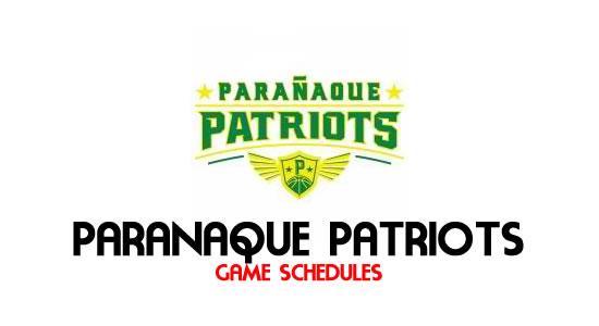 LIST: Game Schedule Paranaque Patriots 2018 MPBL Anta Datu Cup