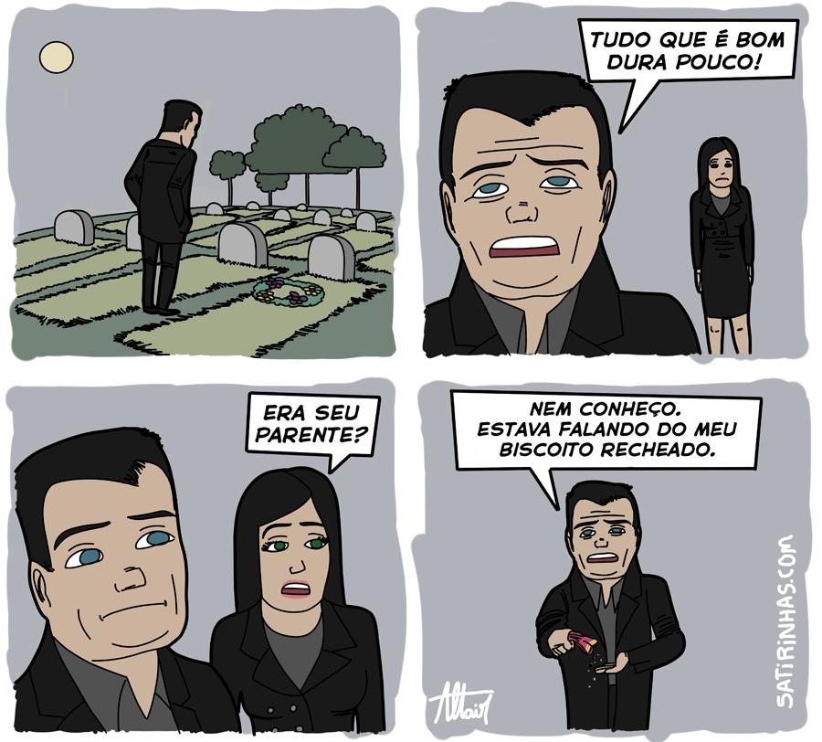 Uma cena muito triste no Cemitério