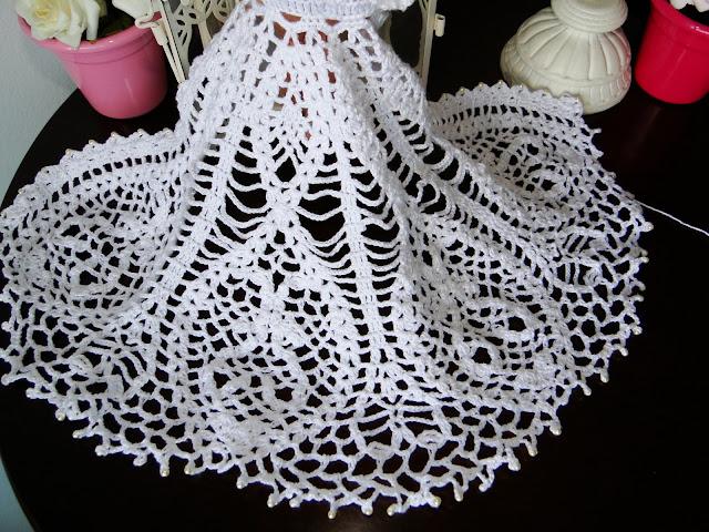 Vestido de noiva de crochê para Barbie, por Pecunia MillioM 44
