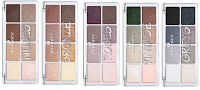 reviews ESSENCE Try it Love it! trendy palettes eyeshadow Nudes Bronze Roses Vintage Greys swatches