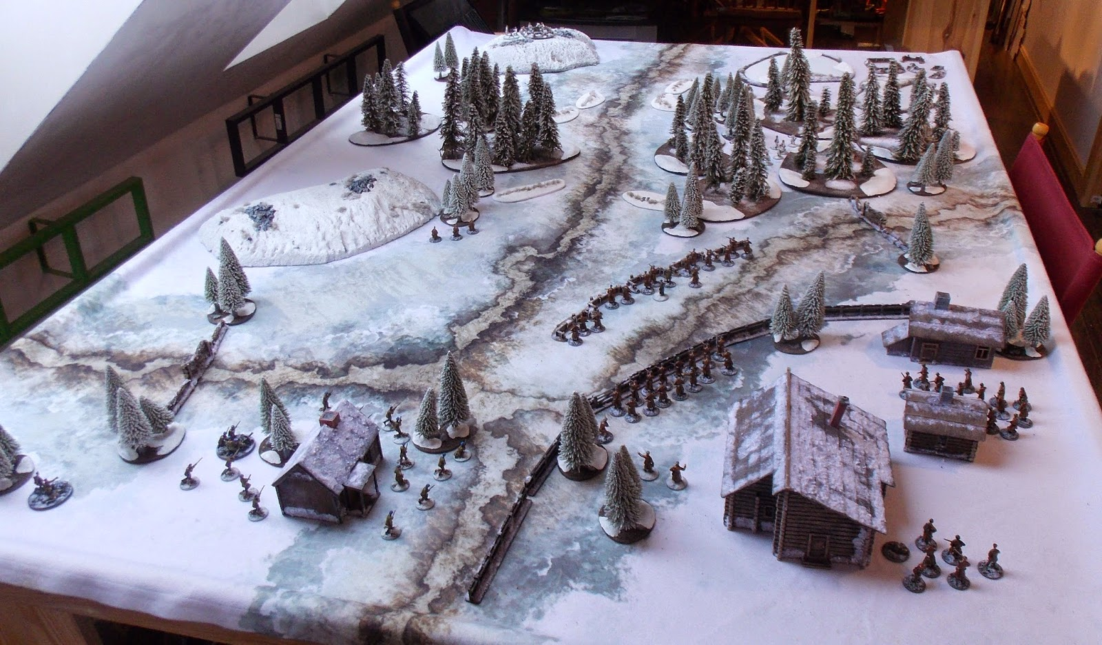 Wargaming In 28 Mm And Sometimes Smaller Winter War Terrain