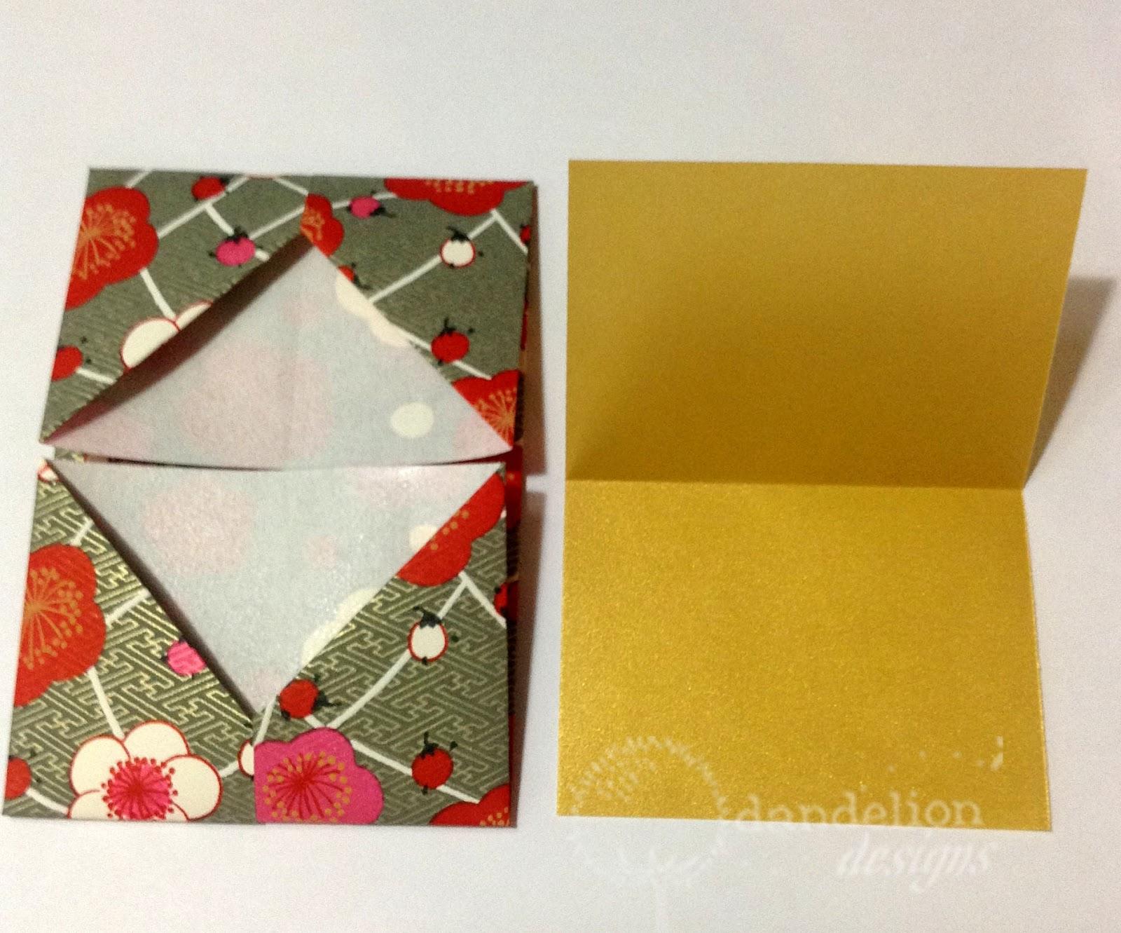 dandelion designs origami gift card holders