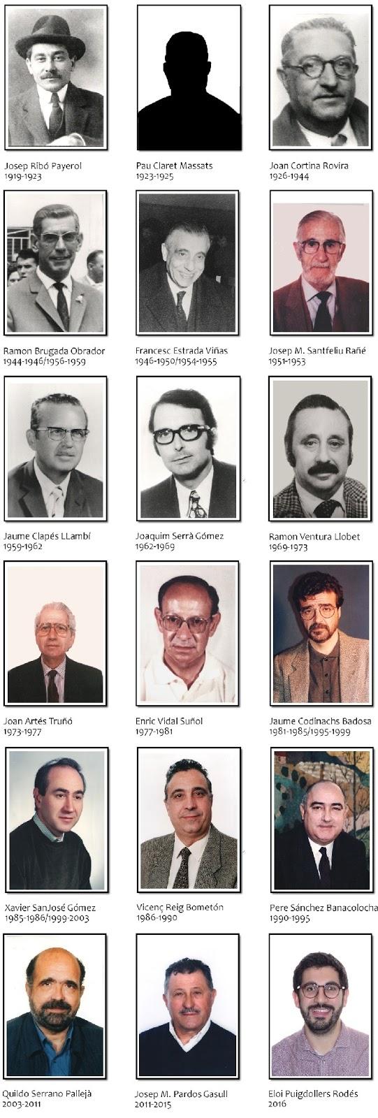 Los dieciocho presidentes del Casal Catòlic de Sant Andreu