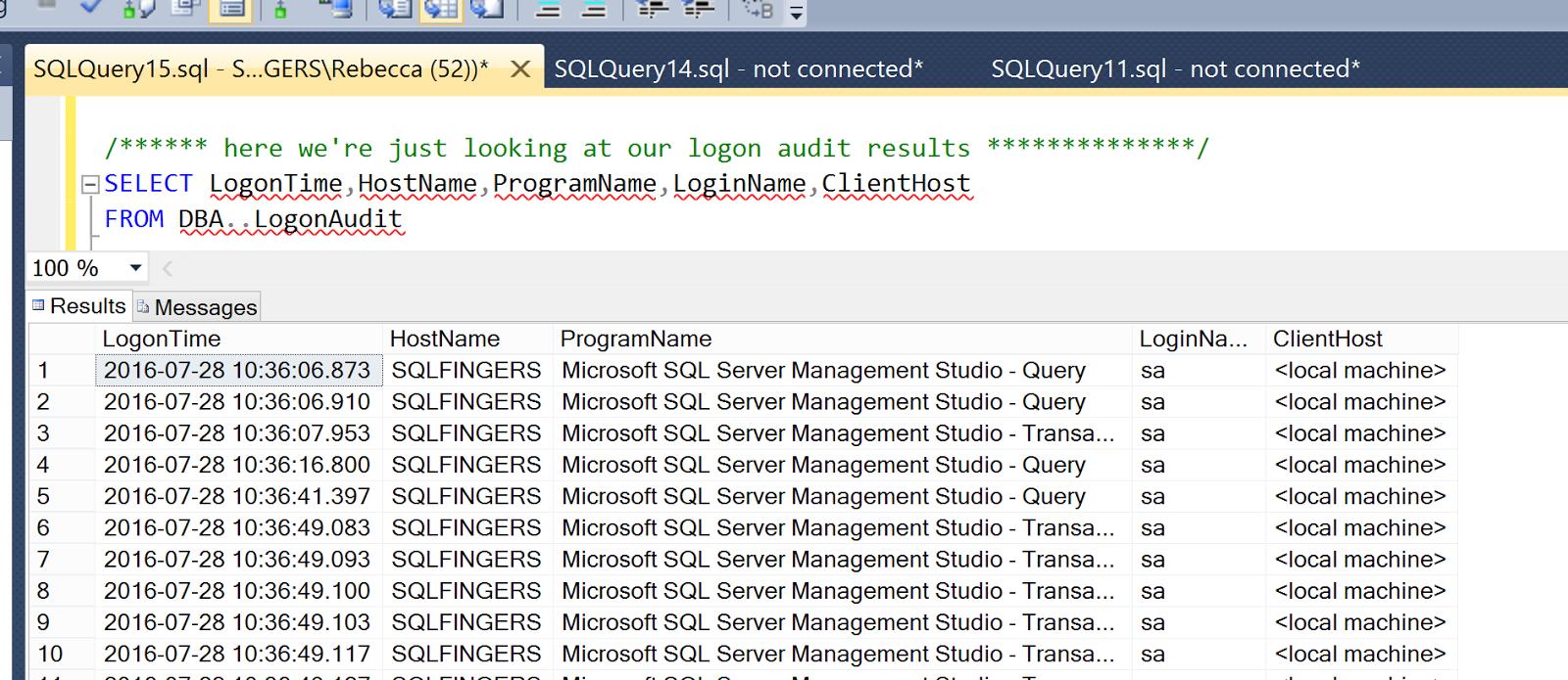 Sqlfingers Using A Sql Server Logon Trigger