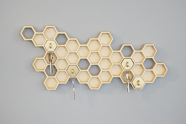 creative key holder, honeycomb key holder,