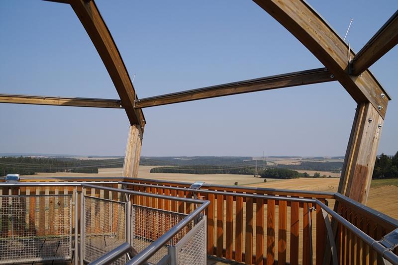 Aussicht vom Saaleturm in Burgk, Thüringen