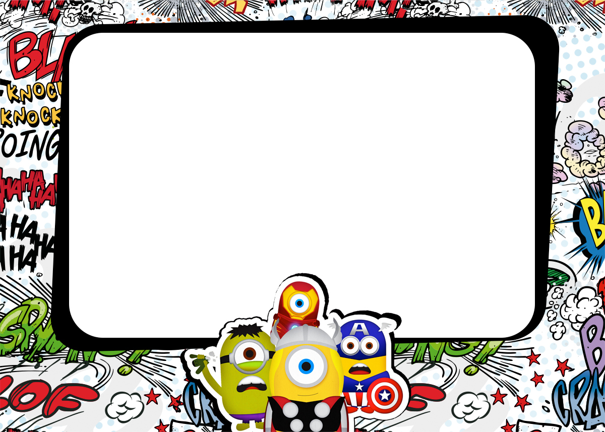image relating to Free Printable Minion Invitations called Minions Superheroes: Free of charge Printables Invites. - Oh My