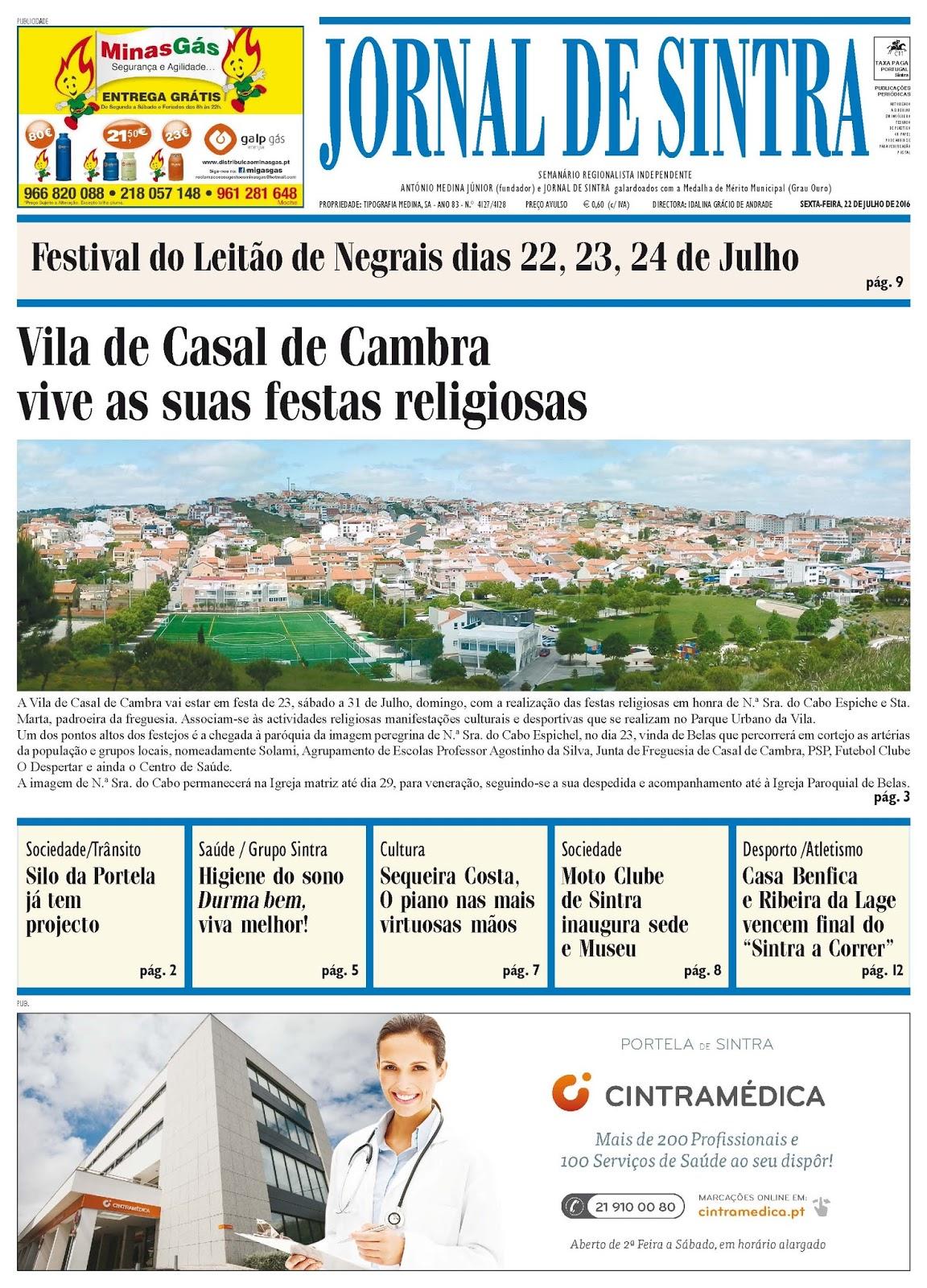 Capa da edição de 22-07-2016