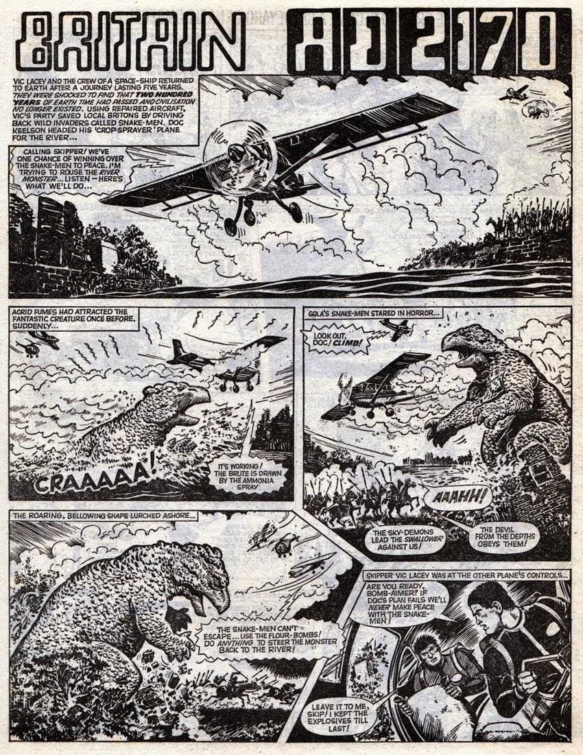 BLIMEY The Blog of British Comics Britain AD2170 LION 1970